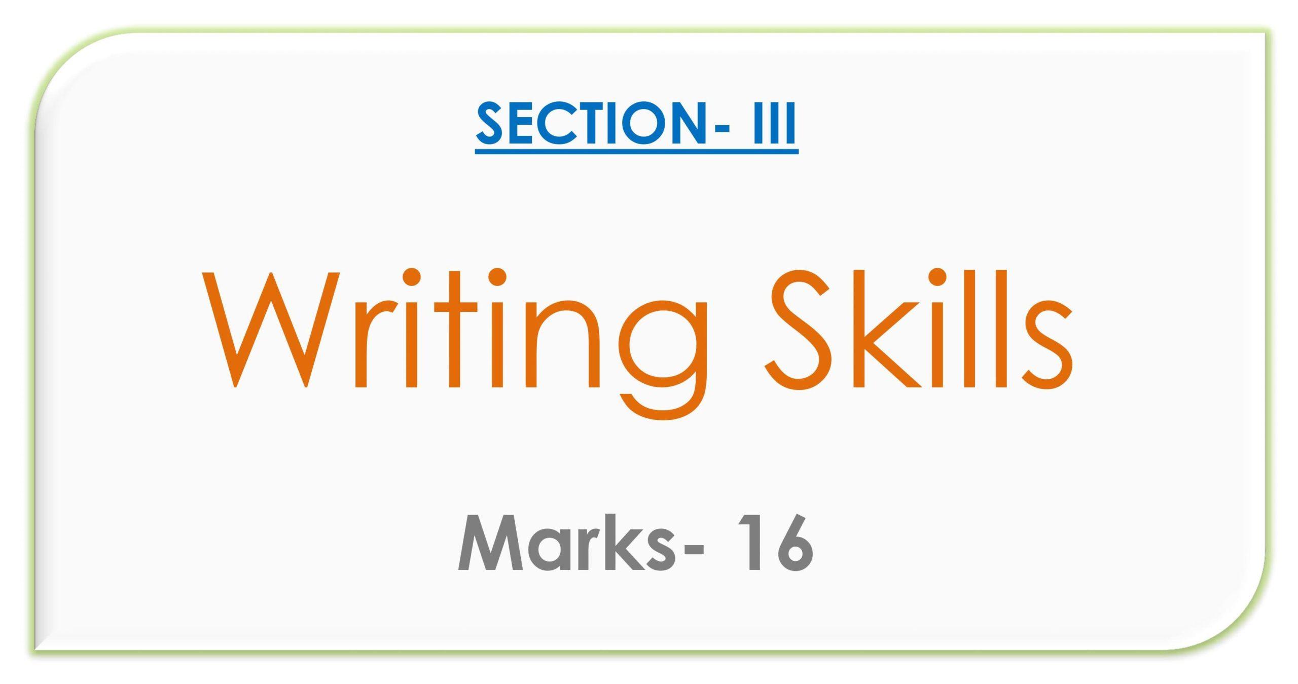 WRITING SKILL_
