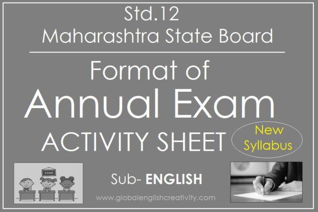 ANNUAL EXAM ACTIVITY SHEET FORMAT- ENGLISH