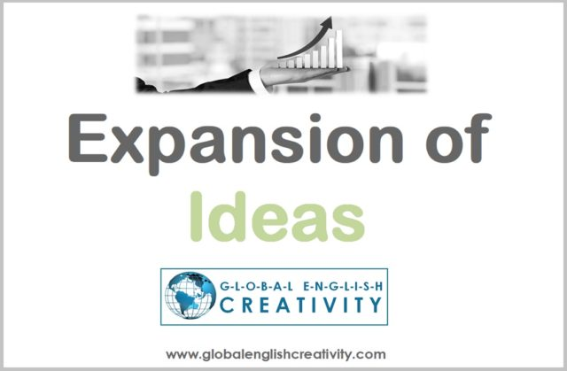 EXPANSION OF IDEAS_GLOBAL ENGLISH CREATIVITY
