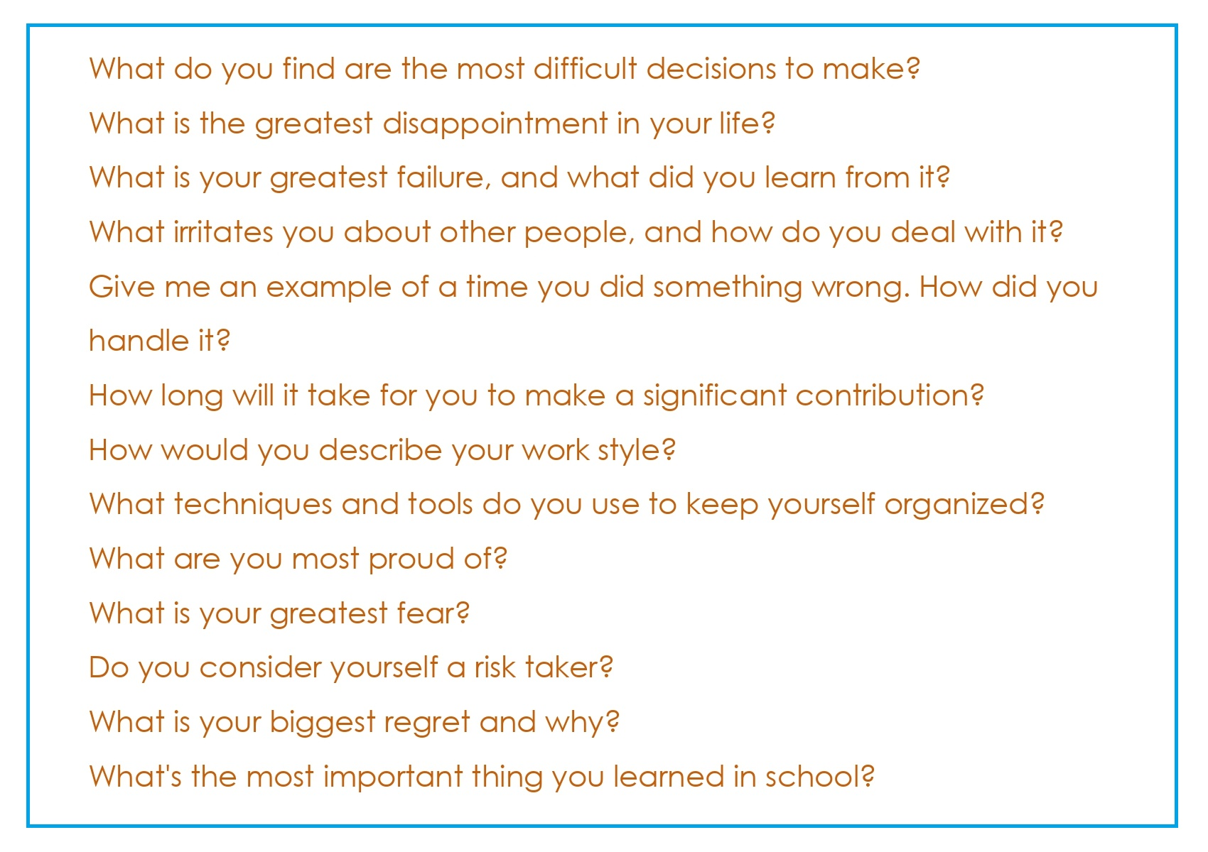 Common Interview Questions_02