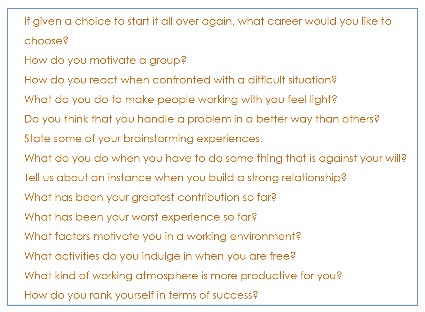 Common Interview Questions_07