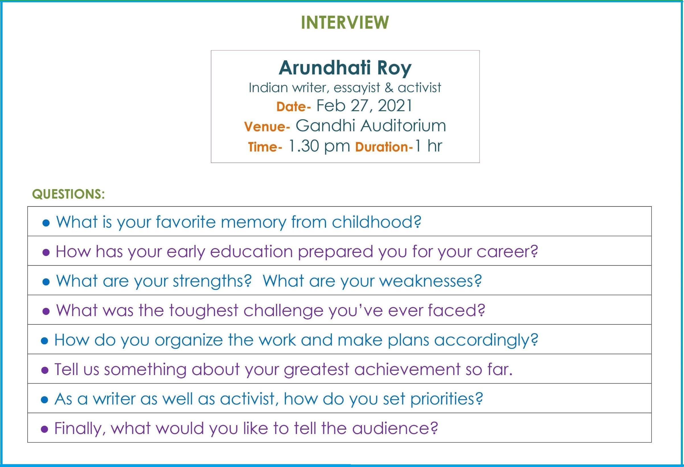 Interview of Arundhati Roy_