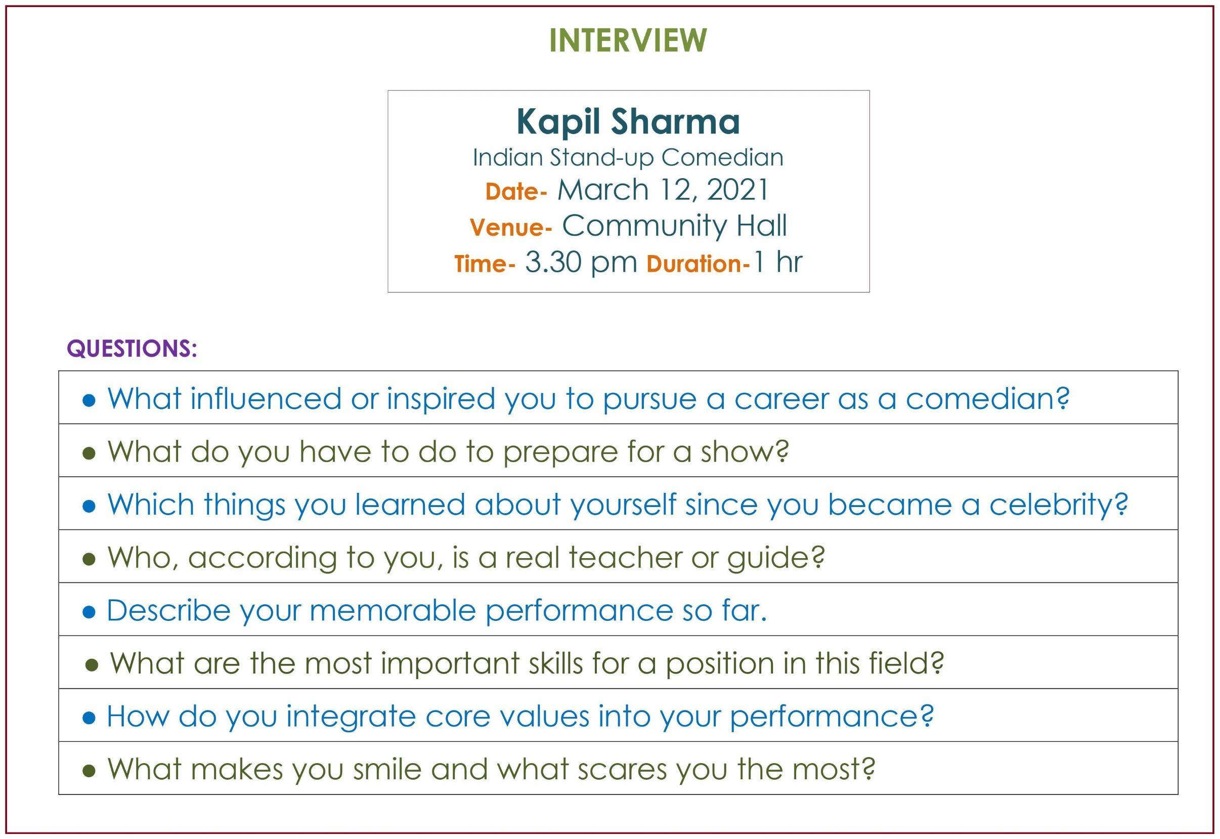 Interview of Kapil Sharma_