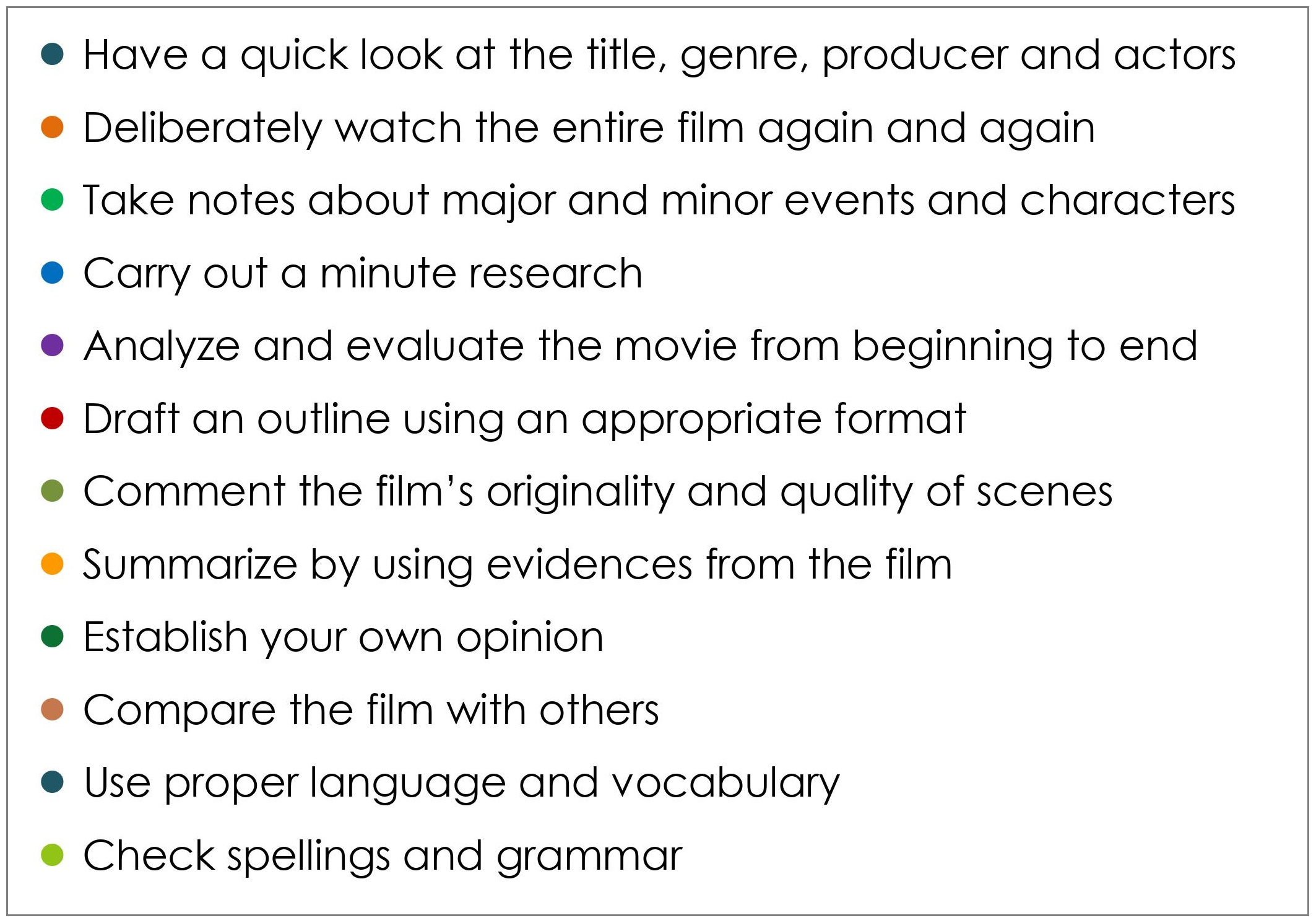 TIPS TO WRITE FILM REVIEW_