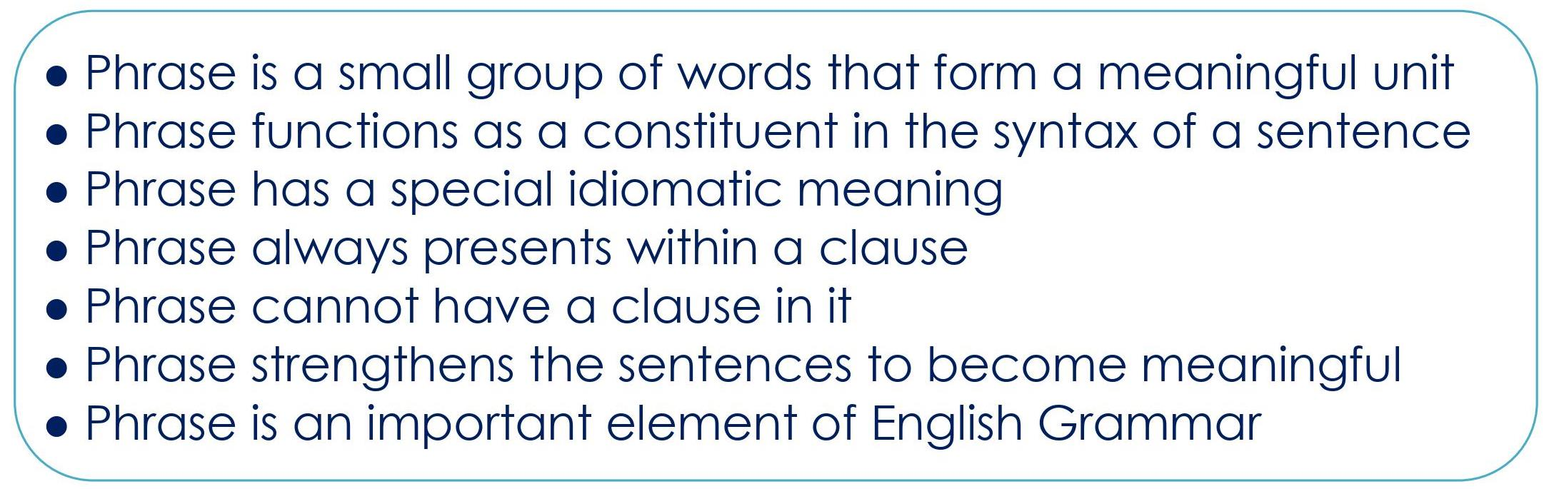 ENGLISH GRAMMAR PHRASES